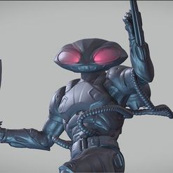 3D printing model BLACK MANTA inspirited figure, Masterclip