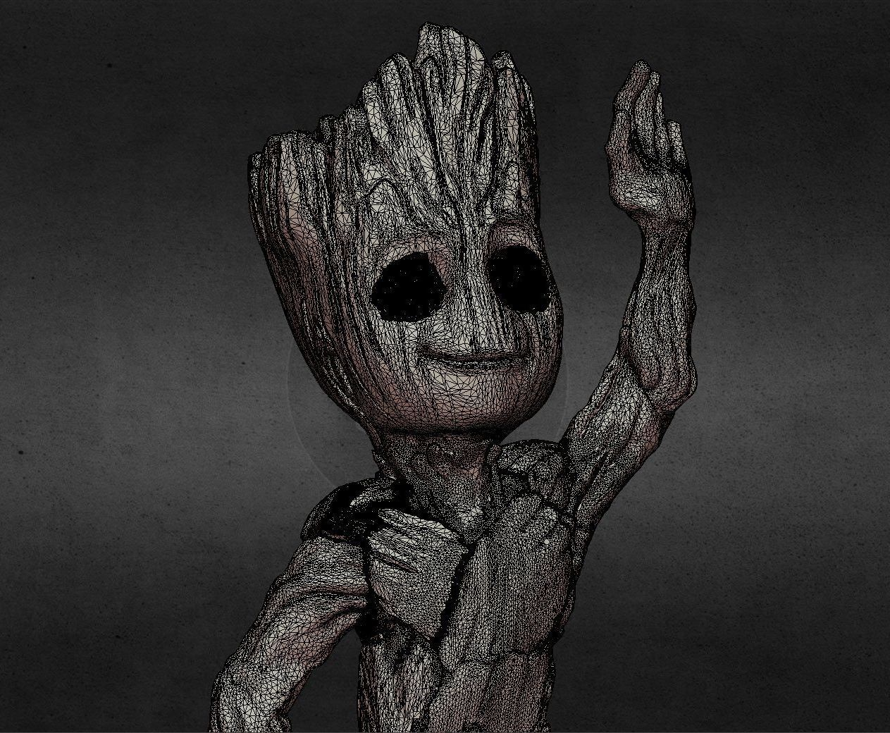 capture_06222017_113428.jpg Download OBJ file LIL BABY GROOT • 3D print template, Masterclip