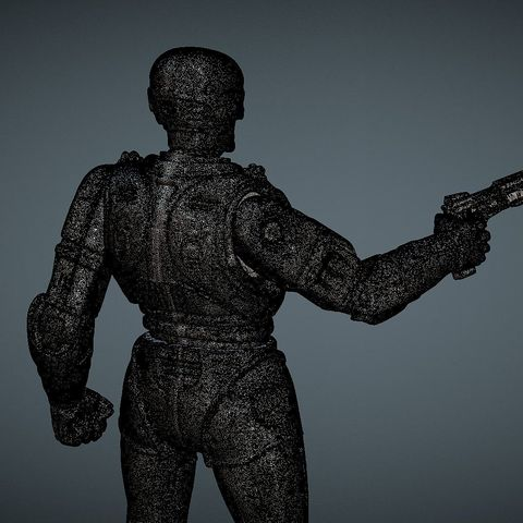 CAPTURE_009.jpg Download STL file ROBOCOP INSPIRITED FIGURE • Design to 3D print, Masterclip
