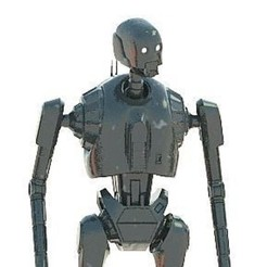 K-2SO_001C.jpg Download OBJ file K-2SO (SPLITED MULTIPLE PIECES) • 3D printable model, Masterclip