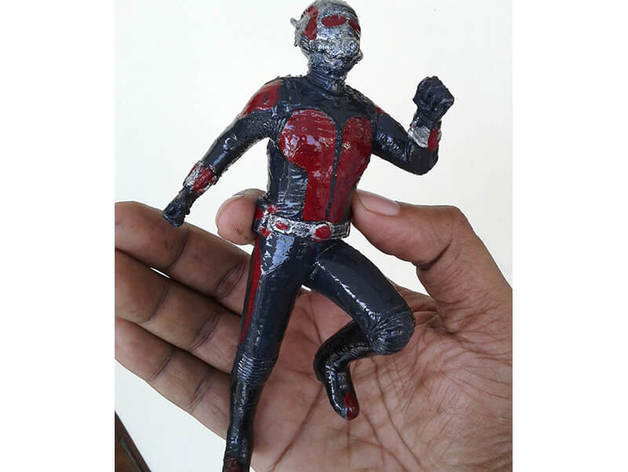 fe5df232cafa4c4e0f1a0294418e5660_preview_featured.jpg Download free STL file Ant-Man figure • Template to 3D print, Masterclip