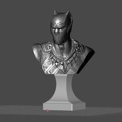 Free 3D printer designs BLACK PANTHER FREE BUST, Masterclip