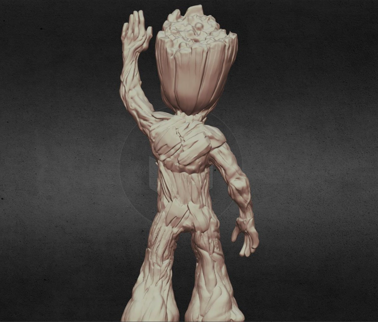 capture_06222017_113409.jpg Download OBJ file LIL BABY GROOT • 3D print template, Masterclip