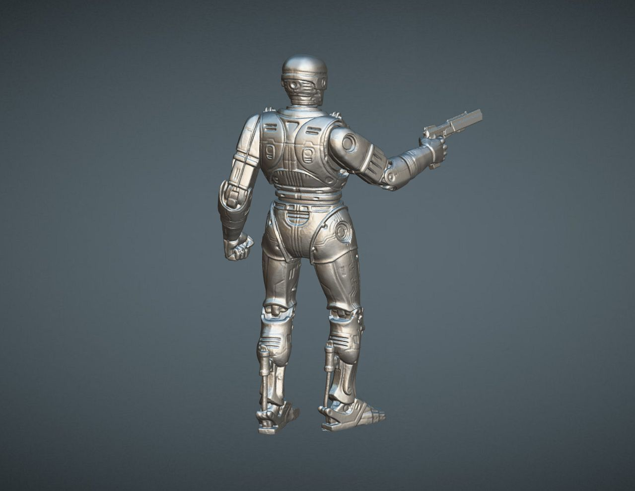 CAPTURE_006.jpg Download STL file ROBOCOP INSPIRITED FIGURE • Design to 3D print, Masterclip