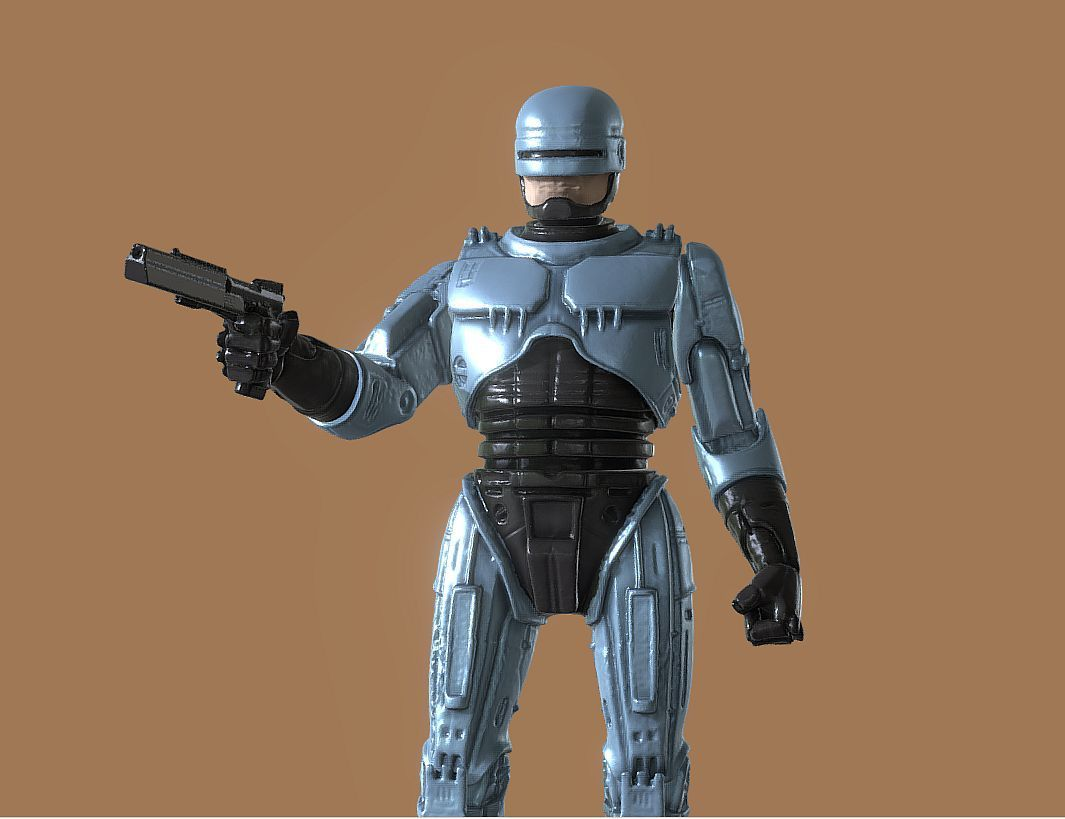 CAPTURE_010.jpg Download STL file ROBOCOP INSPIRITED FIGURE • Design to 3D print, Masterclip