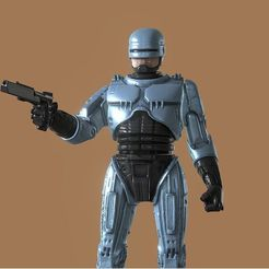 Download STL files ROBOCOP INSPIRITED FIGURE, Masterclip