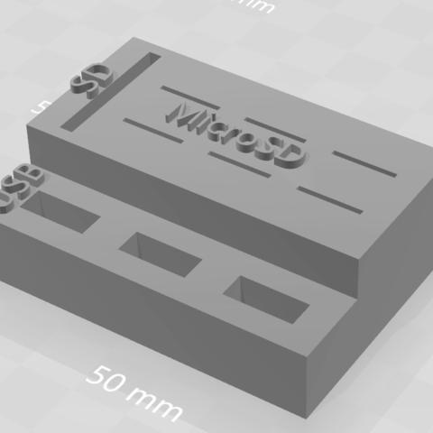 archivos 3d Almacenamiento Llave USB, tarjeta SD, MicroSD gratis, Indy85fr