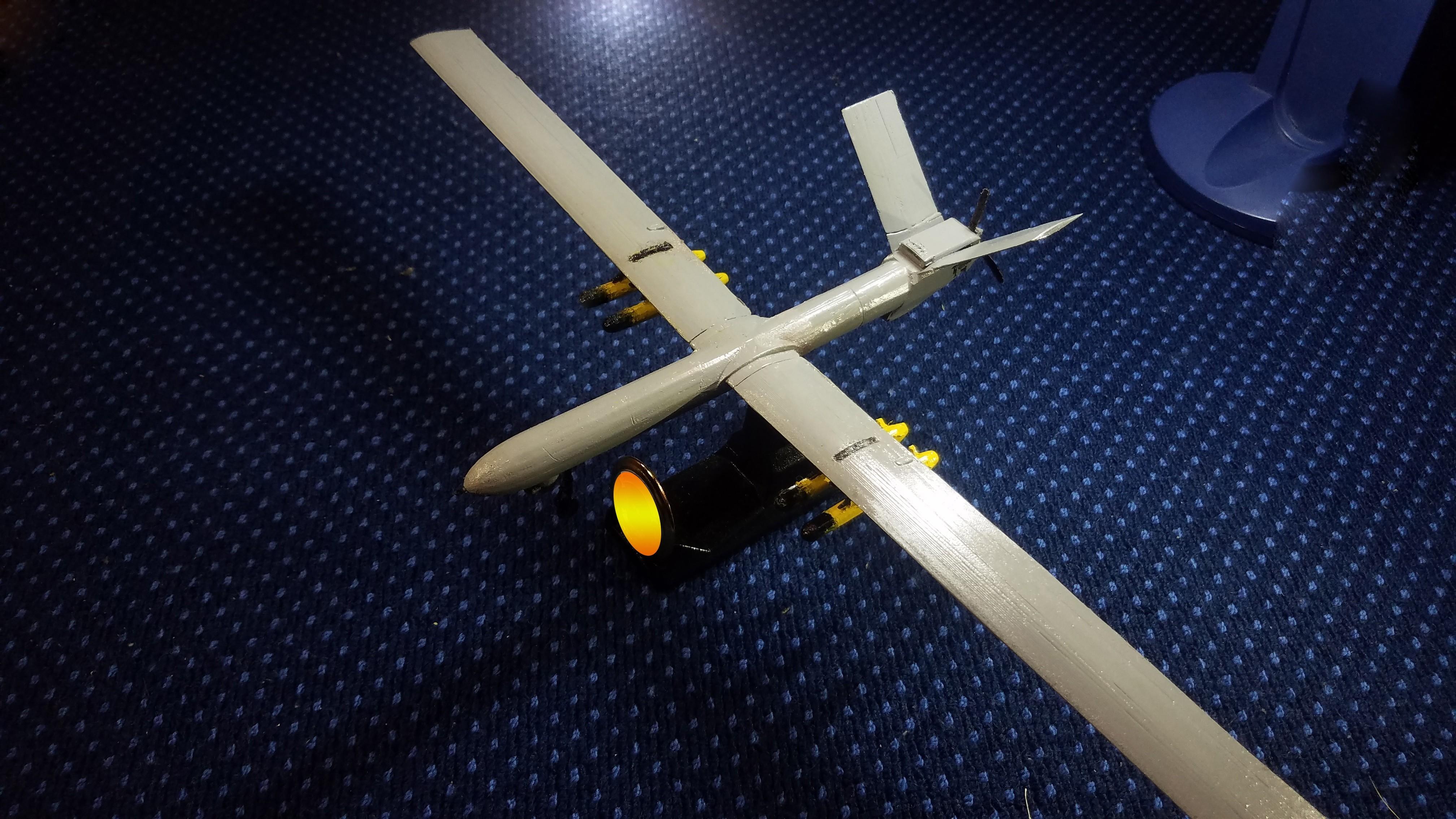 4.1.jpg Télécharger fichier STL gratuit UAV: Shahed 129 • Objet à imprimer en 3D, speace4me