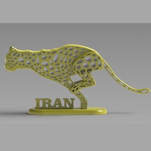 fichier imprimante 3d gratuit Guépard iranien, speace4me