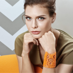 Free 3D printer designs Lace Bracelet, fashion3D