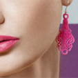 Download free STL file Lace Earrings • 3D printing template, fashion3D