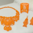 Download free STL files Lace Bracelet, fashion3D