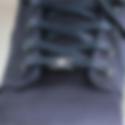 LaceThroughShoelaceClip_Ekocycle.stl Download free STL file Ekocycle Shoelace Clips • 3D print template, fashion3D