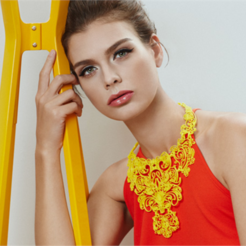 Download free 3D print files Lace Statement Necklace, fashion3D