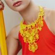 Modelo 3D Collar de la declaración del cordón gratis, fashion3D