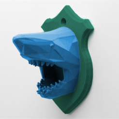 download.png Download free STL file Shark Head • 3D printing design, DDDeco