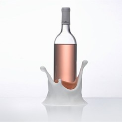 Free 3D print files Splash Wine Bottle Holder, DDDeco