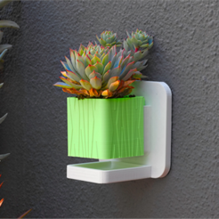 "Free 3D print files 2"" Planter with Saucer, DDDeco"