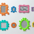 Download free 3D printer templates Francesca Frame, DDDeco