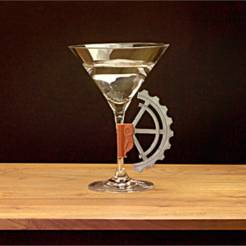 archivos 3d Martini Glass Gear gratis, DDDeco