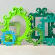 Free 3D printer files Isabelle Frame, DDDeco