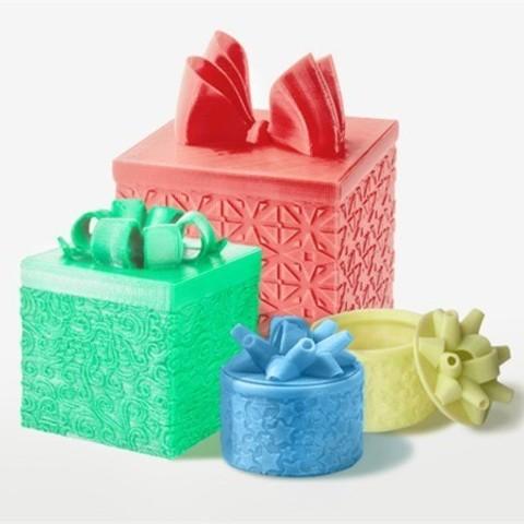 image_143QA3AHUH.jpg Download free STL file Gift Box - Medium • 3D printer model, DDDeco