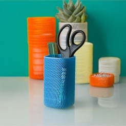 Download free 3D printing files Square Pencil Cup (Tall), DDDeco