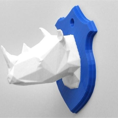 Download free STL file Rhino Head • Template to 3D print, DDDeco