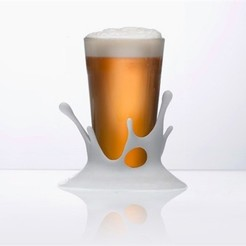 pint-glass-coaster_YI728AQ6UJ.jpg Download free STL file Splash Coaster - Small • 3D printer design, DDDeco
