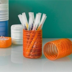 Free 3D print files Pencil Holder with Lid, DDDeco