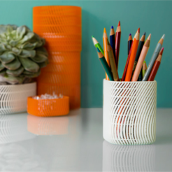 Download free 3D model Square Pencil Cup (Medium), DDDeco