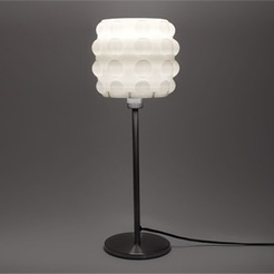 1_I8XX89WWJF.jpg Download free STL file Bubble Table Lamp - Drum • 3D printer template, DDDeco