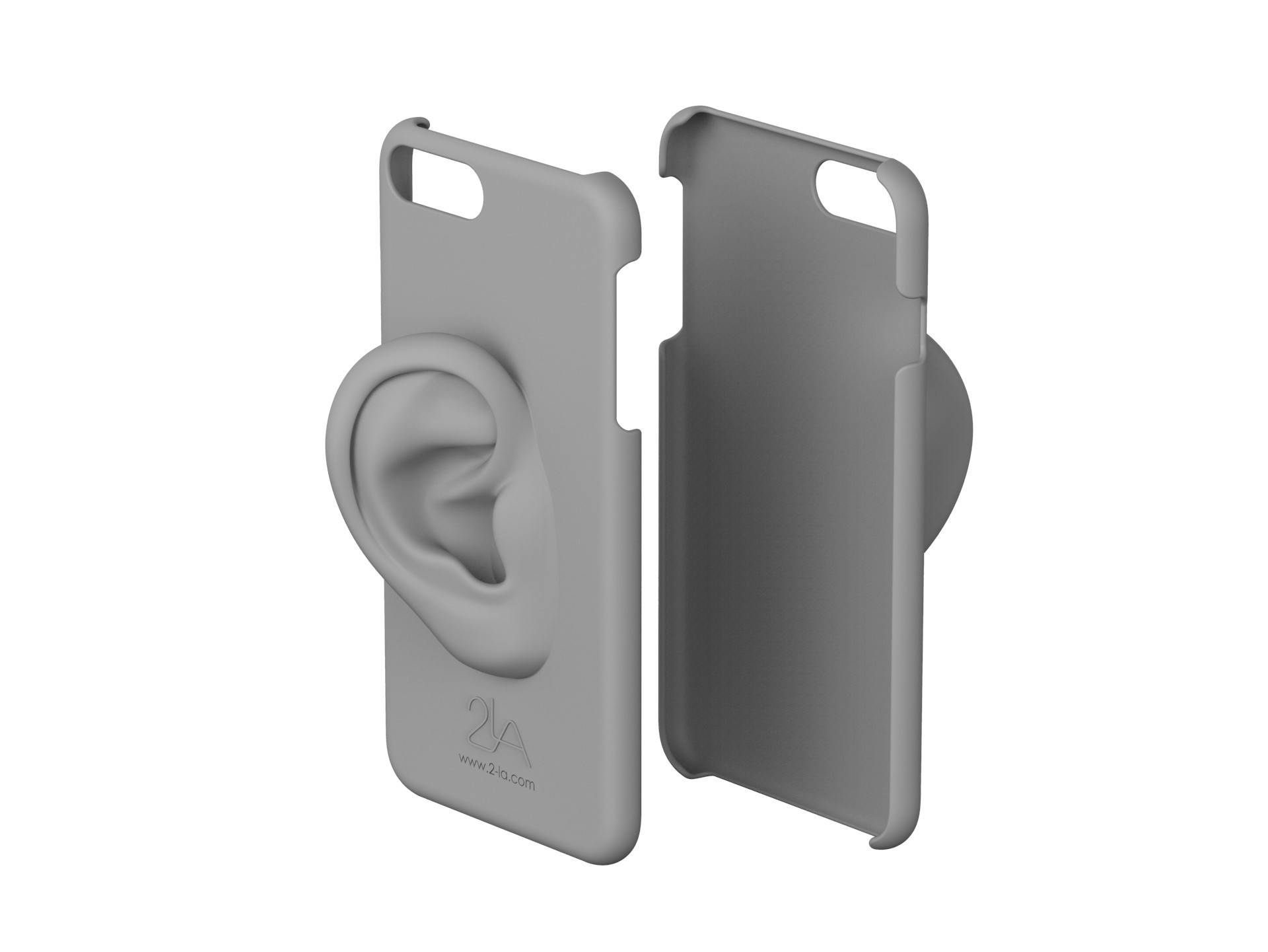 3rd ear iPhone case.2655.jpg Download free STL file 2-LA 3rd ear case for iPhone 7 plus • Template to 3D print, 2LA