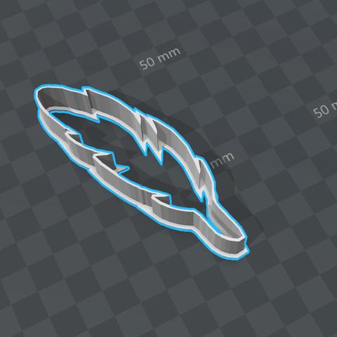 pluma.png Download STL file feather cookie • 3D printer model, LeandroDevincenzi