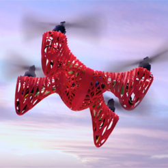 Free 3D printer designs Skeleton X-14 Quadcopter, Dadddy
