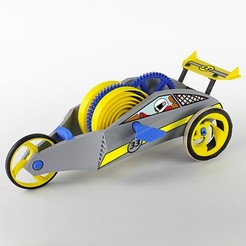 Free STL Wind-Up Racer, Dadddy