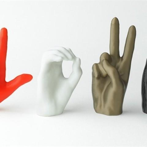 Modelos 3D gratis Signo de amor, Dadddy