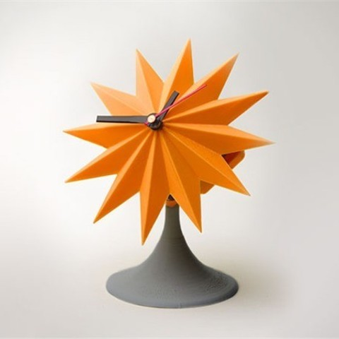 lowres_YRIYR34568.jpg Download free STL file Sunburst Tabletop Clock • 3D printable template, Dadddy