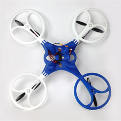 Free 3D printer model Quadcopter T-1, Dadddy