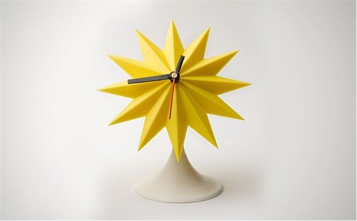lowres_AQ1IH2OR82.jpg Download free STL file Sunburst Tabletop Clock • 3D printable template, Dadddy