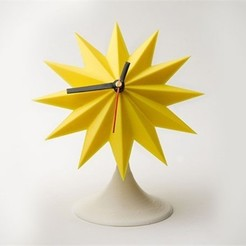 Free STL file Sunburst Tabletop Clock, Dadddy