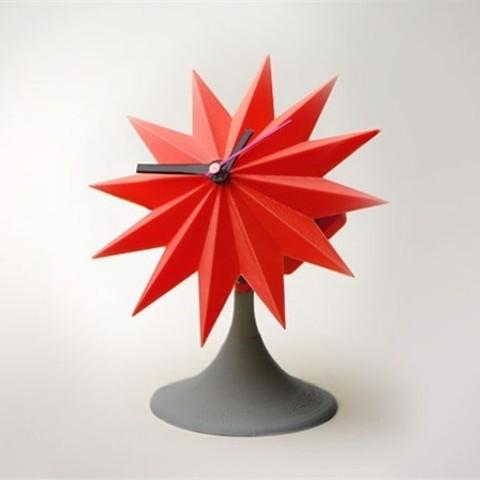 lowres_FWFQ4R64AI.jpg Download free STL file Sunburst Tabletop Clock • 3D printable template, Dadddy