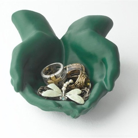Free STL files Cupped Hands Catchall, Dadddy