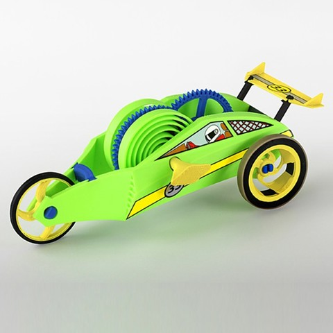 Download free 3D printer model Wind-Up Racer Mini, Dadddy