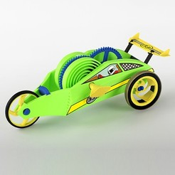 Free 3D print files Wind-Up Racer Mini, Dadddy
