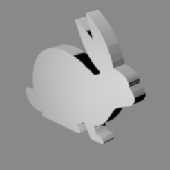 Download free 3D model Rabbit silhouette, Loucoo