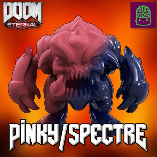 Download 3D printing templates DOOM ETERNAL PINKY SPECTRE COLLECTIBLE FIGURINE HIGH RES CUSTOM MODEL, ThatJoshGuy