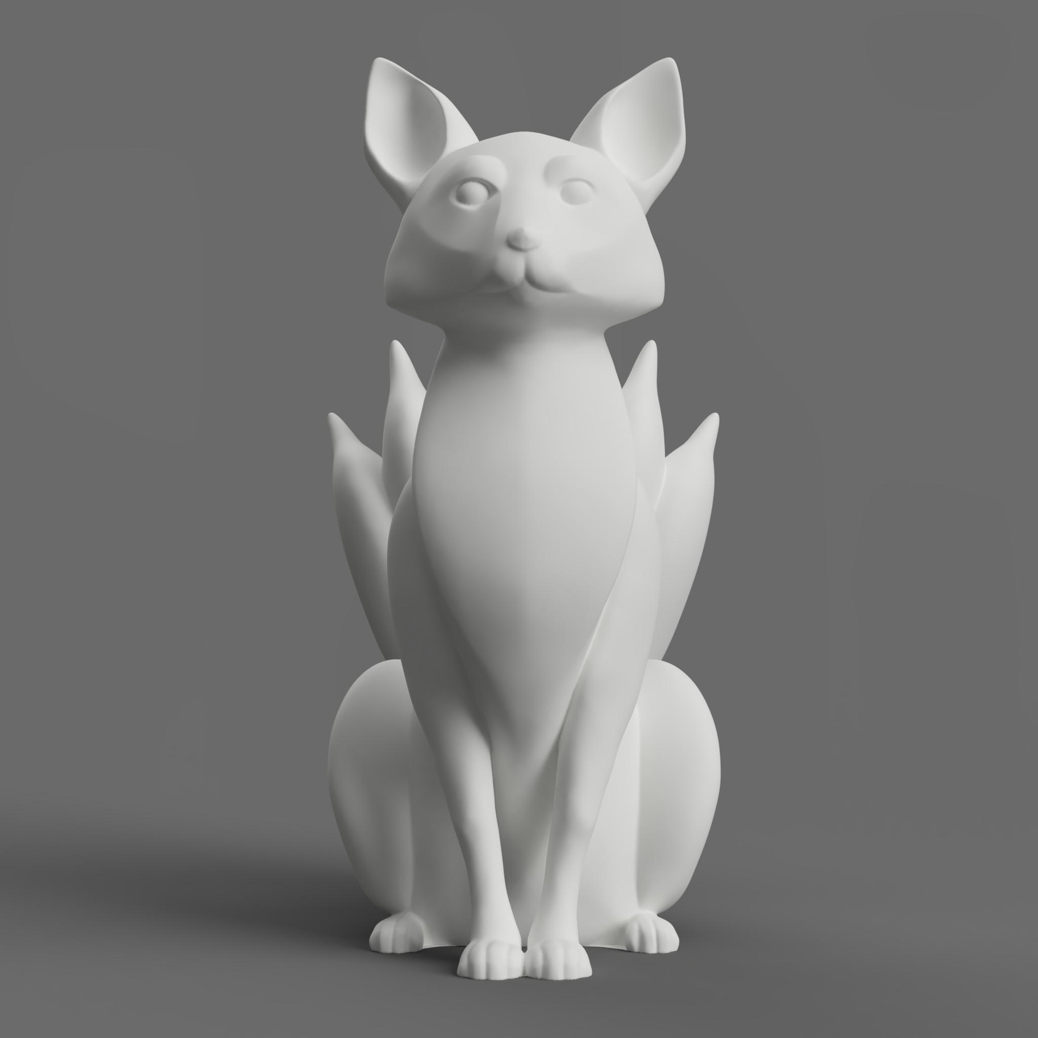 TJG_Kitsune02.png Download free STL file Kitsune - Easy Print, no supports required. New V3!!! • Design to 3D print, ThatJoshGuy