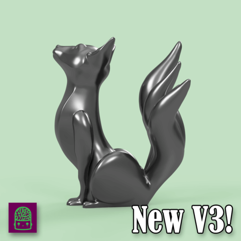 v31.png Download free STL file Kitsune - Easy Print, no supports required. New V3!!! • Design to 3D print, ThatJoshGuy