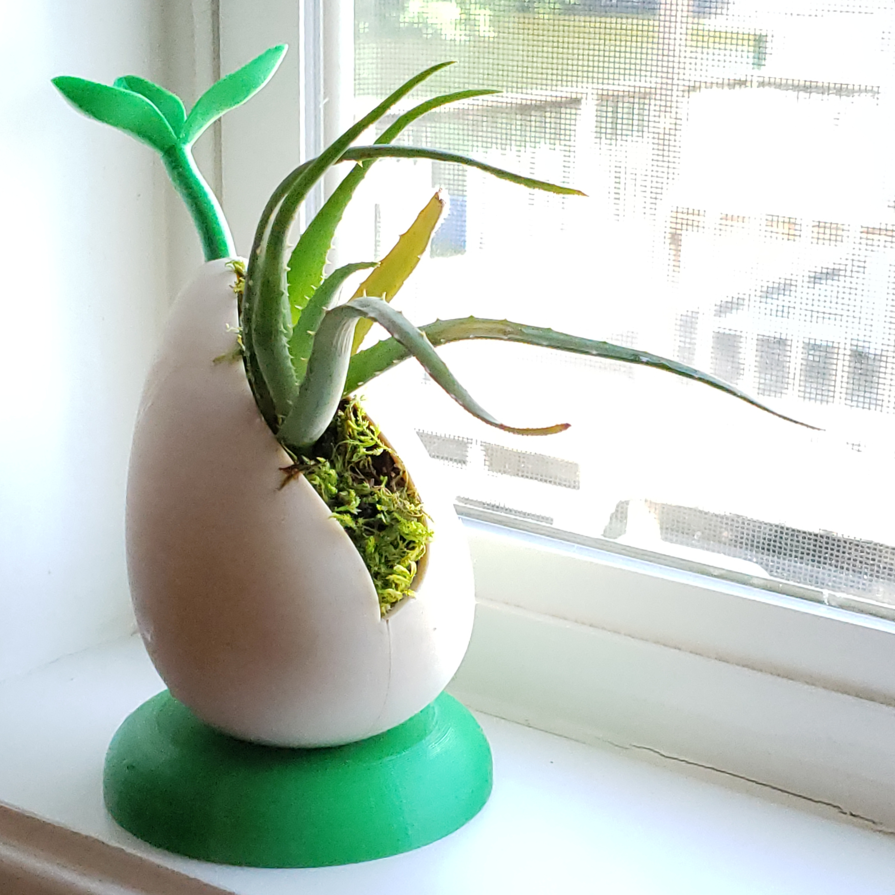 1.jpg Download free STL file Sprout - Self-Watering Desktop Planter for small plants and succulents • 3D print model, ThatJoshGuy